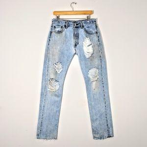 Custom Distressed Levi's 501 Vintage Jeans